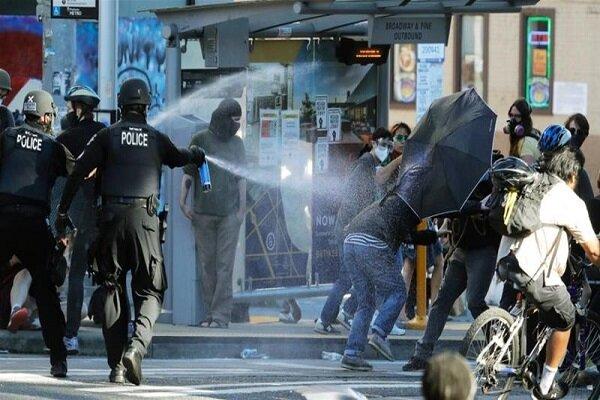 اعتراضات ضد نژادپرستی در ساکرامنتو به زخمی شدن ۴ پلیس انجامید