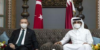 گفتگوی اردوغان و امیر قطر درباره جنایات  صهیونیستها