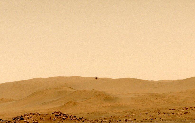 بالگرد نبوغ در پنجمین پرواز با مکان اولیهی خود در مریخ خداحافظی کرد