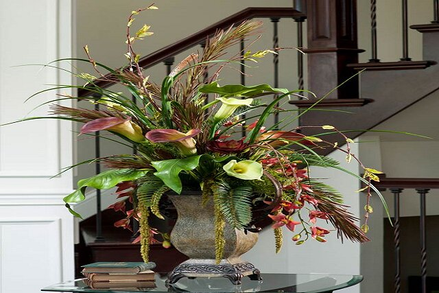 تزئین خانه با گل مصنوعی