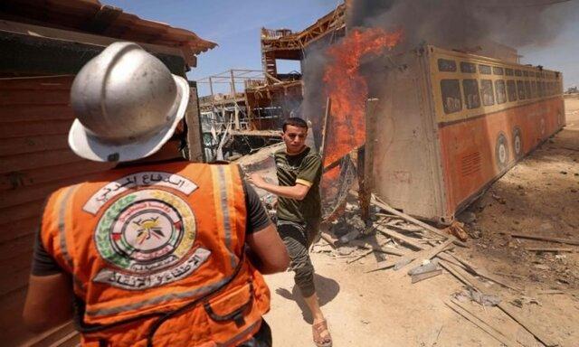 قسام به موشکباران مجدد تلآویو تهدید کرد/ رژیم صهیونیستی وزارت اوقاف فلسطین را بمباران کرد
