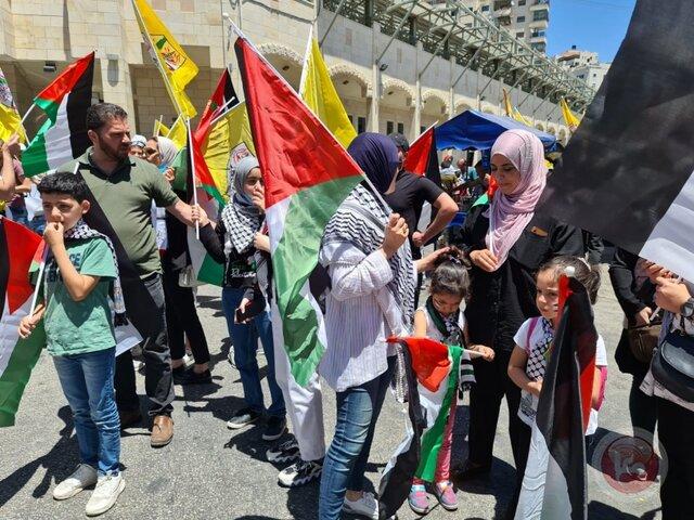 راهپیماییها در کرانه باختری و اراضی ۴۸ در حمایت از قدس و غزه به درگیری کشید