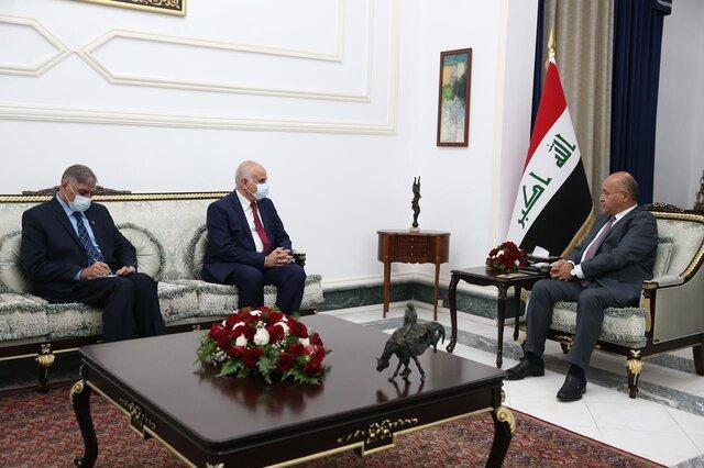 تاکید برهم صالح بر اقدام مؤثر برای پایان دادن به حملات به فلسطین