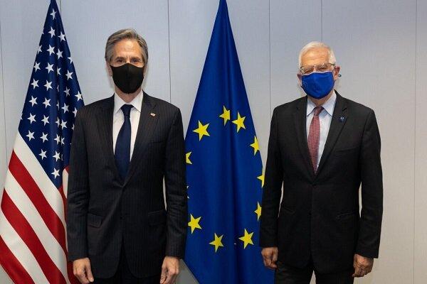 مسئول سیاست خارجی اتحادیه اروپا و «بلینکن» گفتگو کردند