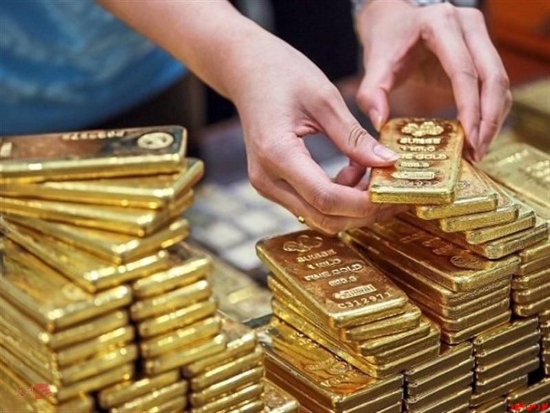 قیمت طلا تحت تاثیر دلار آمریکا افزایش یافت