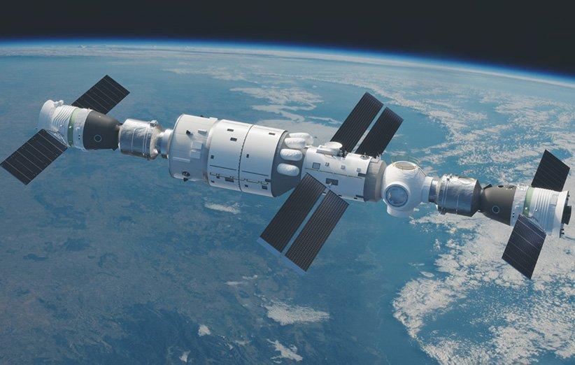 ایستگاه فضایی چین برای نخستین بار میزبان فضانوردان این کشور شد