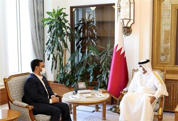 دیدار آذری جهرمی با نخست وزیر قطر