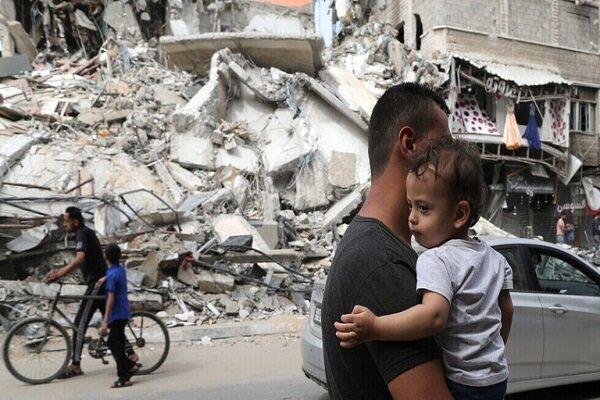 شهادت کودک فلسطینی براثر انفجار جسم برجامانده از تجاوز صهیونیستها