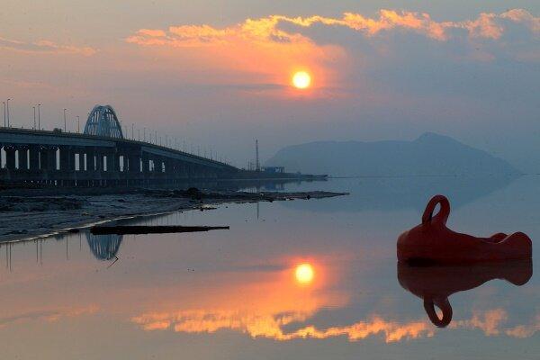 تراز دریاچه ارومیه ۵۷ سانتیمتر کاهش یافت