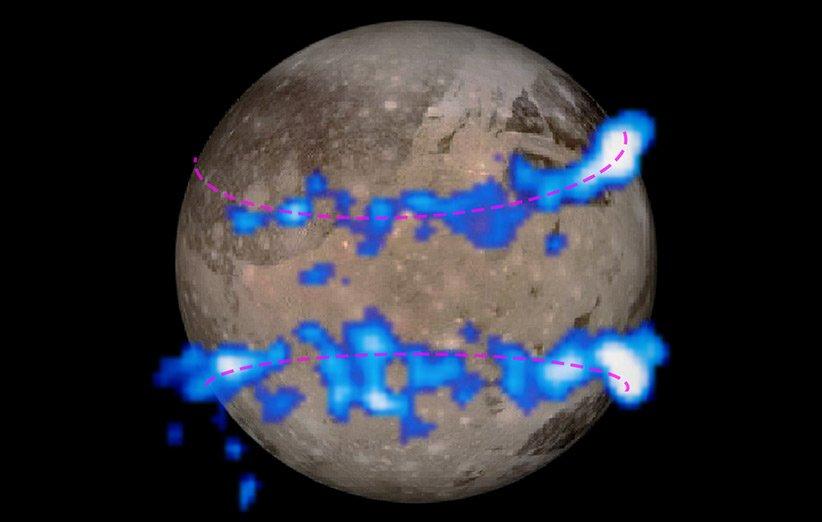 بخار آب برای نخستین بار در جو بزرگترین قمر منظومهی شمسی کشف شد