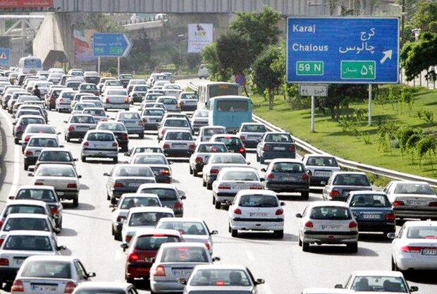 بازگشت آرامش به جاده های شمالی/ ترافیک سنگین در آزادراه کرج-تهران