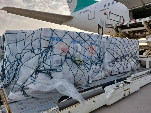 نهمین محموله واکسن چینی وارد فرودگاه امام شد