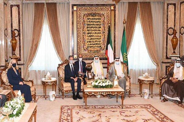 وزیر خارجه آمریکا با امیر و ولیعهد کویت دیدار کرد