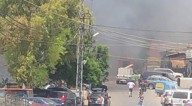 آتشسوزی مهیب در جنوب لبنان