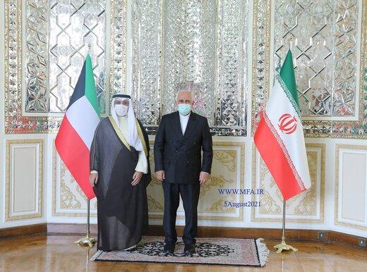 وزیرخارجه کویت با ظریف دیدار کرد