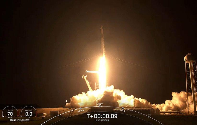 نخستین مأموریت فضایی تمامشهروندی تاریخ راهی مدار زمین شد