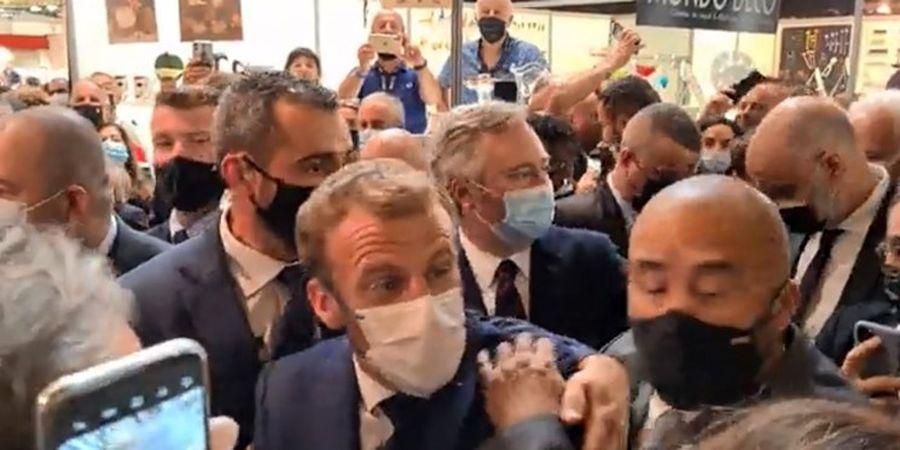 پرتاب یک جسم به رئیسجمهور فرانسه