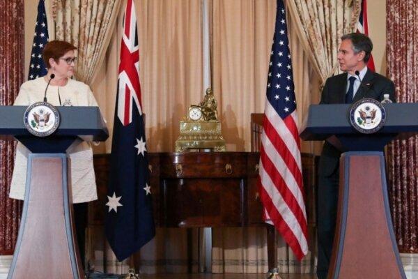 آمریکا از استرالیا در برابر فشارهای چین حمایت می کند