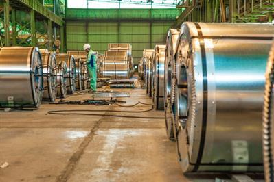 رکورد تولید ورق قلعاندود در فولاد مبارکه شکسته شد
