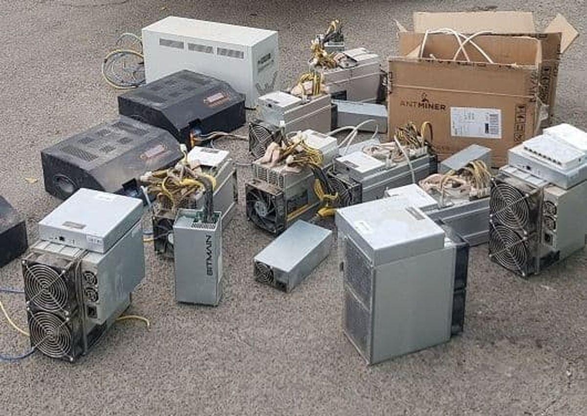 توقیف 10 دستگاه استخراج ارز دیجیتال در قزوین