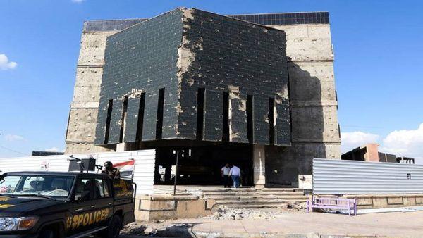 ۲۰۰ کیسه اسکناس زیر آوار یک بانک عراقی کشف شد + فیلم